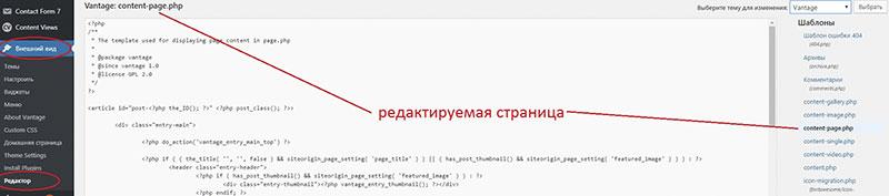 как вставить html, php или скрипт код на страницы или записи WordPress